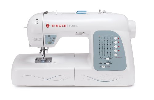 037431882943 - SINGER Futura XL-400 Computerized Sewing and Embroidery Machine with 18.5-by-11-Inch Multihoop Capability Including 2 Hoops, 125 Embroidery Designs, 5 Monogramming Fonts carousel main 2