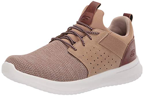 (Skechers Men's Classic Fit-Delson-Camden Sneaker,light brown,8.5 M US )