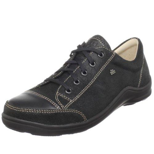 Finn Comfort Women's Soft Soho Fashion Sneaker,Black Minipoints/Nappa,40 M EU / 9 B(M) by Finn Comfort