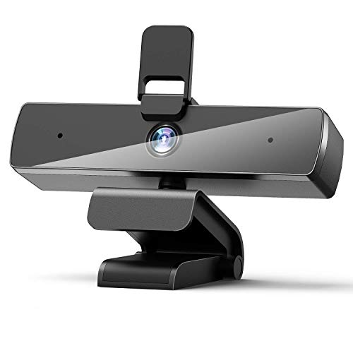 Webcam with Microphone,1080P Webcam Web Camera with Privacy Cover, HD USB Webcam Plug and Play with 95° Wide Angle 2MP Lens for Windows Mac Desktop PC Laptop Video Conference Recording Online Class