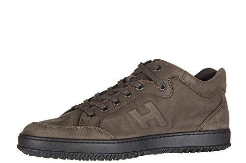 Hogan chaussures baskets sneakers homme en cuir h168 marron