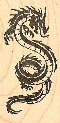 Judikins 3547F - Sello de Goma de Madera para Tatuaje de dragón ...