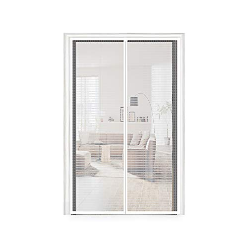 Insulated Door Curtain 36, Thermal and Insulation EVA Magnetic Screen Temporary Plastic Door Curtain Enjoy Cool Summer & Warm Winter Fit Your Door Size Up to 34x82 Inch (36x83 Inch, Transparent)