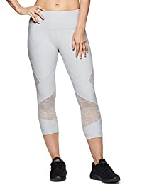 RBX Active Women's Striated Layered Print Capri Legging