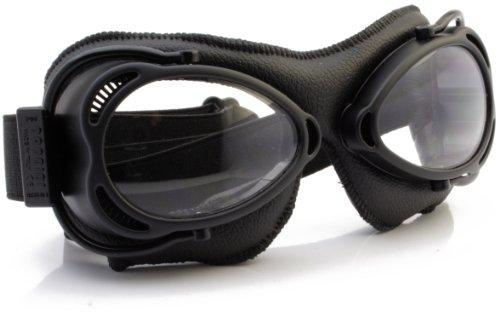 Nannini Anti-Fog Streetfighter Motor 4V Goggles (Black) by Nannini