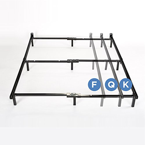 amazoncom zinus compack adjustable steel bed frame for box spring mattress set fits full to king kitchen dining