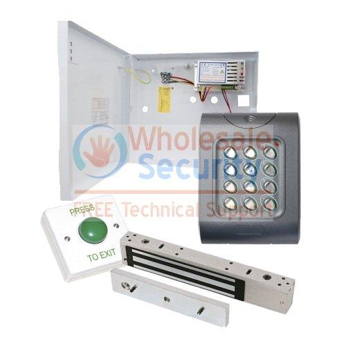 Resistente al agua IP67, Código de Control de acceso 10 teclado para Puerta entrada teclado numérico kit de fuente de alimentación, Maglock y de salida de ...