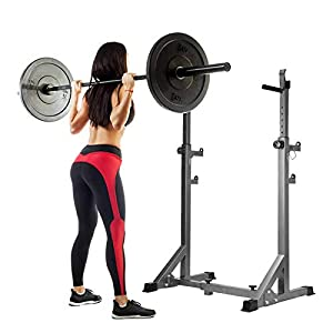 4YANG Parallel bar Squat Rack Bench Press Barbell Rack,Adjustable Squat Rack,Height Range 46 inches-63 inches, Maximum Load Capacity 660Lbs, for Gym and Home Fitness