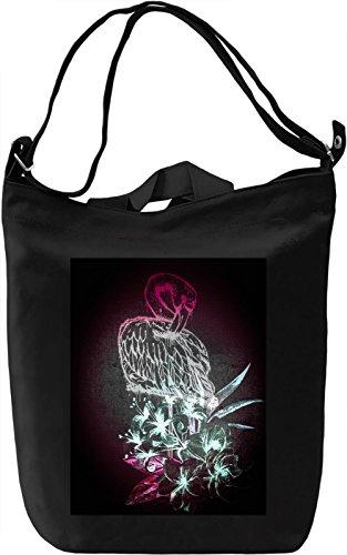 Graphic Flamingo Borsa Giornaliera Canvas Canvas Day Bag  100% Premium Cotton Canvas  DTG Printing 