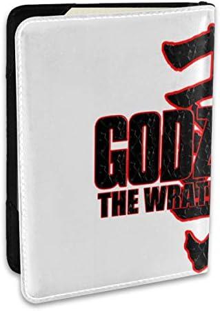 Godzilla YouTube Film Logo ゴジラ モンスターロゴ パスポートケース メンズ レディース パスポートカバー パスポートバッグ ポーチ 6.5インチ PUレザー スキミング防止 安全な海外旅行用 収納ポケット 名刺 クレジットカード 航空券