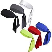 V-SPORTS Dry-Fit Head Ties Tennis Headbands Sweatbands for Women Men Boys Girls Kids Performance Elastic & Moisture Wicking