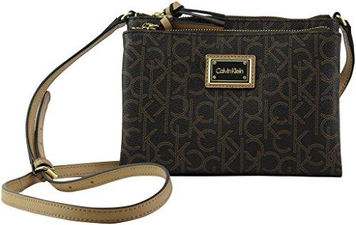 739810f8b Calvin Klein Logo-Crossbody Bag, Brown/Khaki/Camel, One Size ...