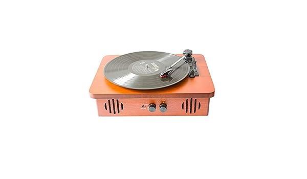 Tocadiscos Retro Radio Vintage Caja de madera plana Giradiscos ...