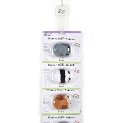 Savvy Tabby 6-Piece Pounce Party Animals Clip Strip for Pets