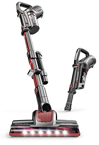 ROOMIE TEC Cordless Stick Vacuum Cleaner with Stand-Alone Battery, HEPA Filter for Pet Hair, 2 in 1 Handheld Dust Buster with Powerful Suction, Low Reach Design LED Headlights Renewed