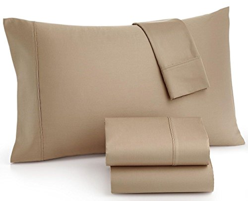MASON COLLECTION KING SHEET SET 800 TC THREAD COUNT FINE LINENS TAUPE - Pillow Mason Collection