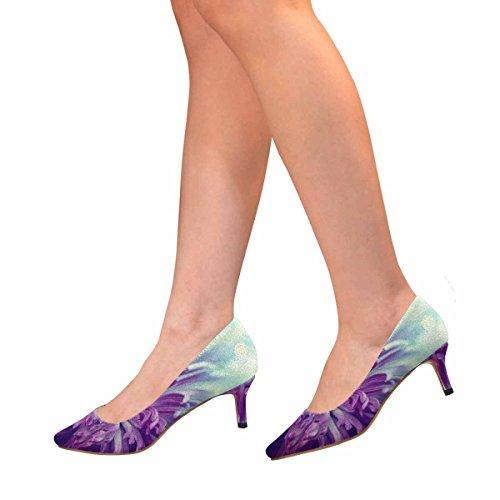Scarpe Da Donna Low Cost Con Gomito A Punta Tacco Tacco Punta Alto Scarpe Fiore   9fa2d4