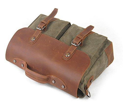 156dca60f2af9 ... Reisetasche Leinwand Tuch Tasche Vintage Schulter tragbar Reisetasche  Crossbody Laptop Tasche Casual Herren Tasche für Macbook ...