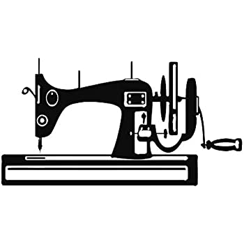 Wall Decals Sewing Machine Vinyl Sticker Sewing Decal Home