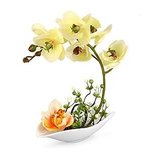 Louis Garden Artificial Silk Flowers 7 Head Simulation Phalaenopsis Bonsai (Simulation of Water) 4