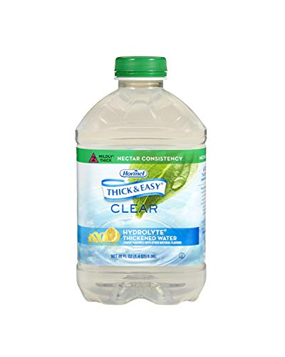 Thick & Easy Thickened Water with Natural Lemon Flavor, Nectar Consistency - Sold by (6)-48oz Bottles by Diamond Crystal Sales
