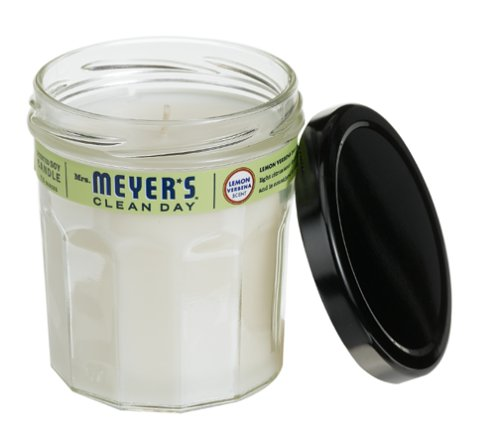 Mrs. Meyer's Clean Day Soy Candle, Lemon Verbena, 7.2-Ounce Jars (Pack  of 6) -