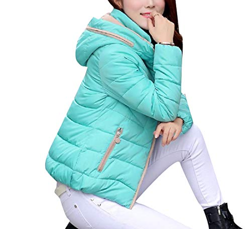 Coat Parka Down Women AS1 Fashionable Jacket Hood Thickened Patchwork XINHEO wF8XRw