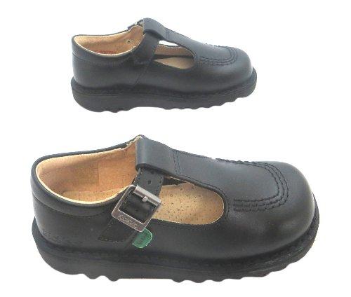 Kickers  Kick T I Core, Mädchen Schnürhalbschuhe Schwarz schwarz