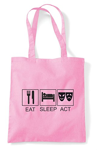 Bag Act Eat Shopper Tote Sleep Pink Light 6PwwxO8q