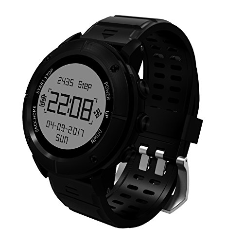Morjava UW80 Outdoor Sports smart watch,measuring heart rate, GPS, pedometer, pneumatic sensor, temperature sensor, gyro, SOS, return cruise, compass for Universal system IP68