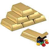 Foil Gold Bar Favor Boxes Party Accessory (1 Count) (12/pkg) Pkg/3