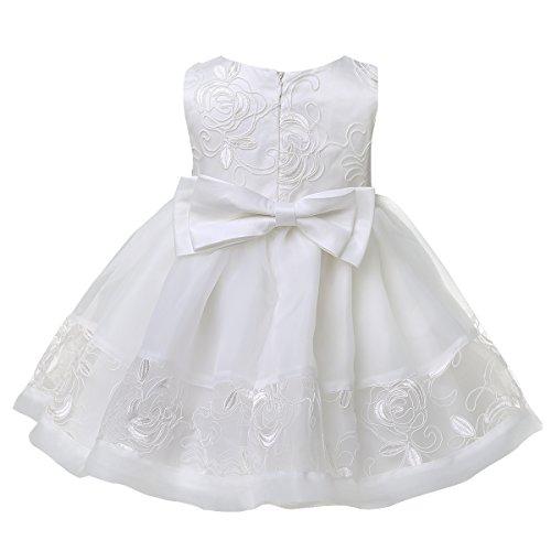 Cofano Il Vestiti Battesimo Con Vestito Formale Ragazza Abito Bambino Ricamato Battesimo Tiaobug awP7qXnv
