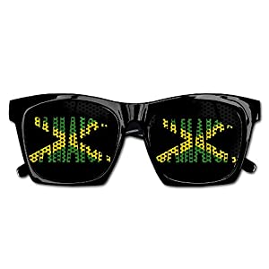 Xing Stars Colorful Summer Unisex Jamaica Flag Text Fashion Party Costume Sunglasses