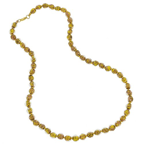 (GlassOfVenice Murano Glass Sommerso Long Necklace - Yellow)