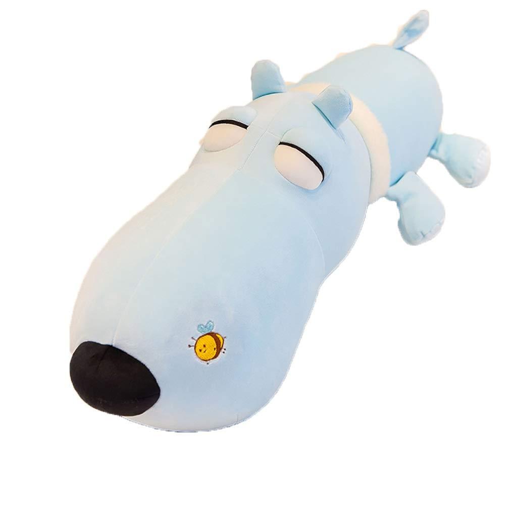 ventas calientes 90cm1.5kg Viñedo Papá Perro de Peluche de de de Juguete Suave de algodón Cachorro muñeca Almohada niño muñeca niña Regalo (Azul) (Talla   90cm1.5kg)  tomamos a los clientes como nuestro dios