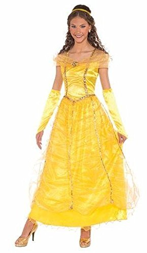 [Forum Novelties Women's Golden Princess Costume, Gold, Standard] (Belle Halloween Costumes For Women)