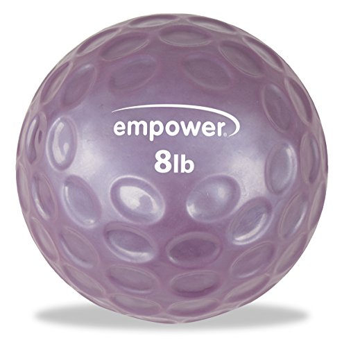 Empower Fingertip Grip Medicine Ball with DVD (8-Pound )