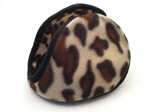 Extra Warm Ear Muffs Warmers Men Women Fleece Winter (Leopard)