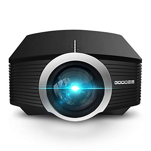 Video Projector, GooDee Mini Projector 2020 (Upgraded Version) 2800 Lumens LED Portable Projector with HDMI, Movie…