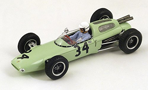 Lotus 24, No.34, UDT Laystall racing team, formula 1, GP Great Britain, 1962, Model Car, Readymade, Spark 1 43