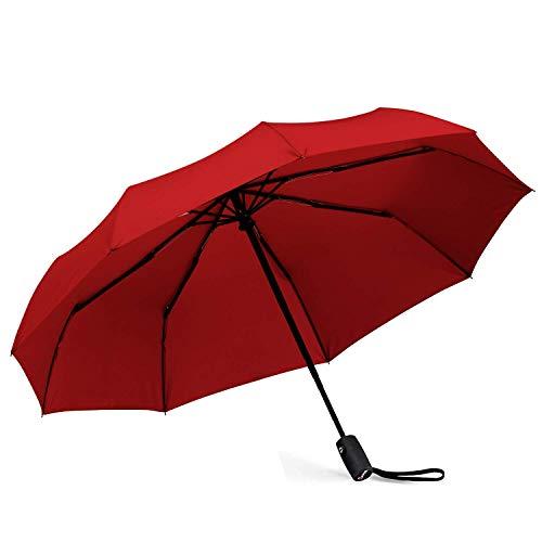 Repel Windproof Travel Umbrella with Teflon Coating (Red) by Repel Umbrella (Image #3)