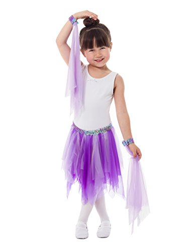 Little Adventures Lilac Ballerina Fairy Tutu & Wrist Scarve Sets For Girls - One-Size (3-8 (Girls Lilac Fairy Costumes)