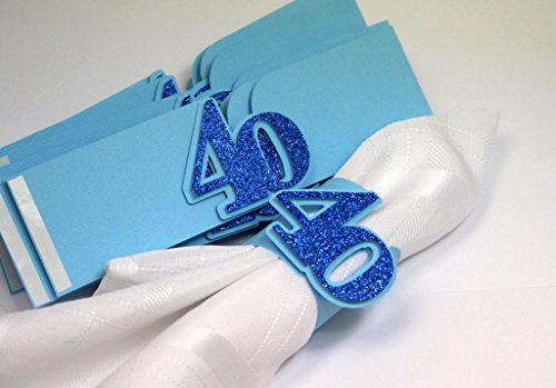 All About Details Blue 40 Napkin Holders, 12Pcs