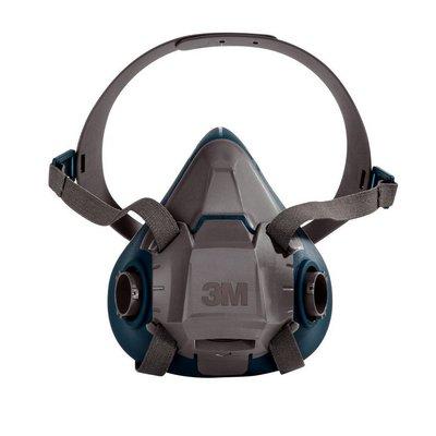 3M Safety 6501QL 6500 Series Rugged Comfort Reusable Half...