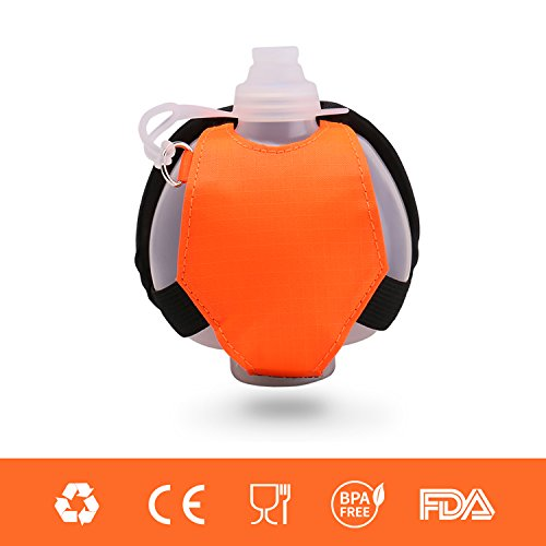 Eyourlife Wearable Hands Free Hydration Wrist Pouch Use As Running, Cycling, Hiking, Camping, Fishing, and SUP (Orange)