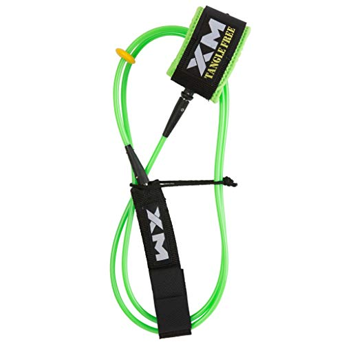 XM Surfboard Leash/Tangle-Free/Big Wave (.313in) // Made in USA / 3 Year Stoked Warranty (Leash Xm)