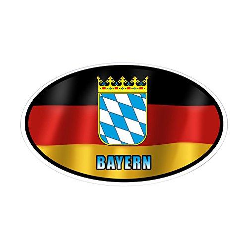 CafePress - Bayern Coat Of Arms - Oval Bumper Sticker, Euro Oval Car Decal (Coat Bayern)