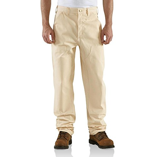 Carhartt Men's Double Front Drill Dungaree Utility Pant,Natural,36 x 32 ()