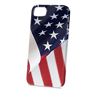 Case Fun Apple iPhone 5 / 5S Case - Vogue Version - 3D Full Wrap - Flag of United States of America