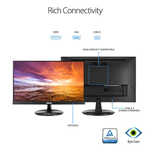 "41W9Lry25XL - ASUS VT229H 21.5"" Monitor 1080P IPS 10-Point Touch Eye Care with HDMI VGA"